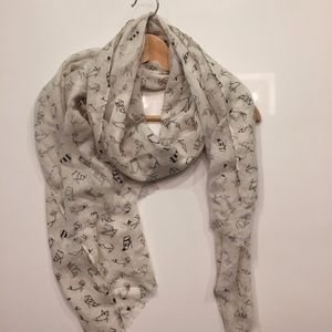 J.Crew Whimsical Shoe Patterned Scarf